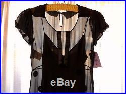 Vintage Moschino Sheer Maxi Dress with 100% Silk Moschino Slip