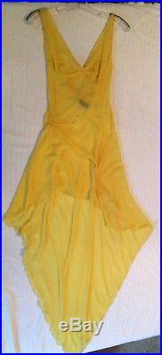 Vintage Original Gianni Versace Couture Silk Slip Dress High Fashion History
