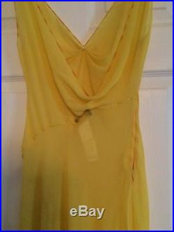 Vintage Original Gianni Versace Couture Silk Slip Dress High Fashion History