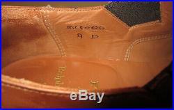 Vintage POLO Crockett & Jones Dress Slip-On Spectator Cap-Toe Shoes US 9 D