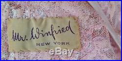 Vintage Pink and Silver Gown Sheer Overlay Needs Under Dress or Slip Size 12