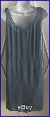 Vintage Prada Gray Flapper Style Dress with Silk Slip Size 44