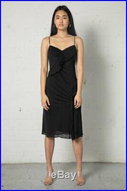 Vintage Prada Slinky Ruffle Slip Dress