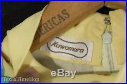 Vintage Pure Silk Chiffon Gown Dress 1960's Kawamura Slip Lining Maxi Empire XS