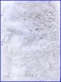 Vintage RICKIE FREEMAN TERI JON NITES Embellished BEADED BRIDAL Slip Dress