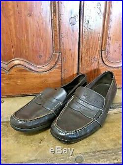 Vintage Ralph Lauren RL Slip On Penny Loafers Mens 13 Thick Leather Upper