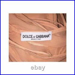 Vintage S/S 1997 Dolce & Gabbana Sheer Peachy Nude Silk Slip Maxi Dress 42