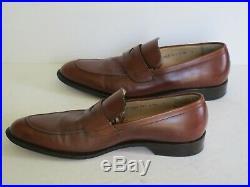 Vintage Salvatore Ferragamo Rust Leather Slip On Dress Shoes, Size 10 D