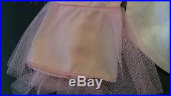 Vintage Sears Exclusive TIckled Pink Formal Parfait slip dress Boa 1681 LOT
