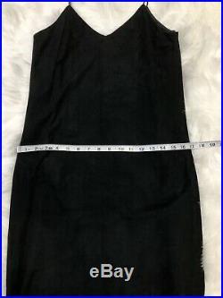 Vintage Suede Slip Dress 90s