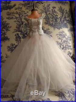 Vintage Tagged Madame Alexander 1957 Bride Dress Slip & Panties
