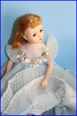 Vintage Tagged Madame Alexander Elise Blue Bridesmaid Dress And Slip (No Doll)