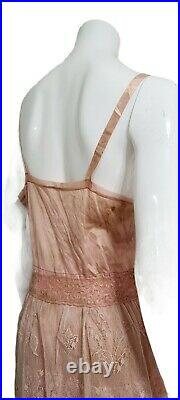 Vintage UPCYCLED REWORKED RECYCLED 1950s-1970s Slip & Wedding Lace Dress MED/LG