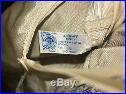 Vintage USA Union Made ILGWU Dress VTG Full Slip Size 36 Lace Lingerie
