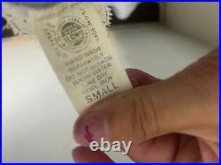Vintage Union Made Christian Dior Baby Blue Floor Length Slip Dress Size Small