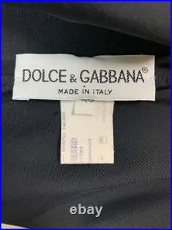 Vintage Unworn 1995 Dolce & Gabbana Black Satin Mini Slip Dress