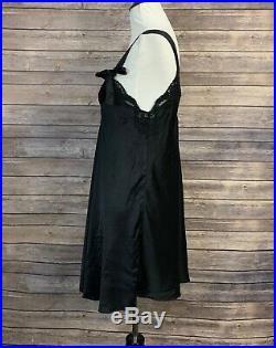 Vintage Valentino Intimo Couture Black Silk Slips (Size S)
