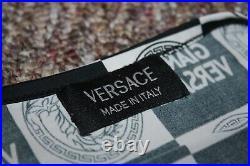 Vintage Versace 1990s Logo Medusa Print Summer Stretchy Dress S/M 1980s