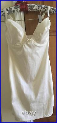 Vintage Victoria's Secret Second Skin Satin Convertible Slip Dress Shaper S 32 D