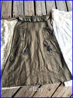 Vintage Victorian Edwardian Skirt Slip Dress Lot Silk Lace Cotton Repair AS IS