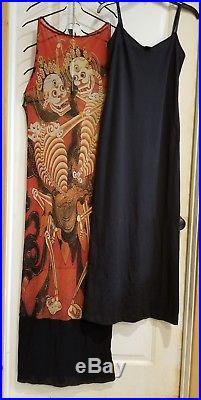 Vintage Vivienne Tam skeleton dress Rare 2 piece withslip full length sleeveless