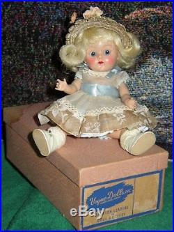 Vintage Vogue Ginny 8 Doll 1953 Tagged Dress + Hat Slip Pants Socks Shoes