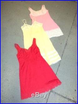 Vintage Wholesale Lot Women's Ladies Evening Night Slips Underwear Dress x 50