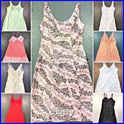 Vintage Wholesale Lot Women's Ladies Night Slip Dress x 100