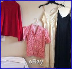 Vintage Womens Clothes 25 Pc Lot 1940s 50s 60s Dresses Skirts Blouses Slips