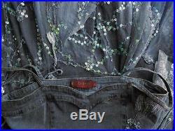 Vintage Womens Size L Blue Jeans Slip Dress Spaghetti Strap Vintage Chic Boho
