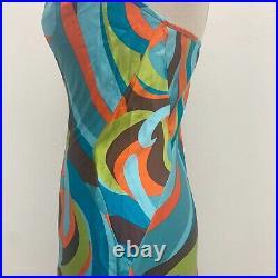 Vintage Y2K Hugo Buscatti Collection Silk Midi Slip Dress Size 4 Small