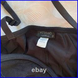 Vintage Y2K La Perla Mesh Ruched Slip Dress M