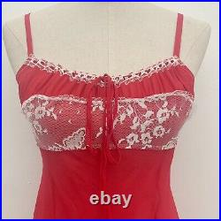 Vintage Y2K Victorias Secret Silk Babydoll Milkmaid Chemise Slip Dress Size Sm