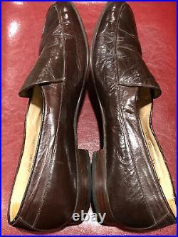 Vintage YSL YVES SAINT LAURENT Brown Mens Slip On Loafers Size 11