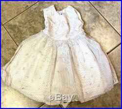 Vintage girl 3T Party dress sheer with rosebud slip Ruth Ann of Miami Beach 1950s