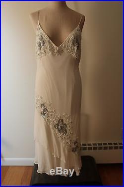 Vintage silk beaded slip gown. GORGEOUS