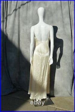 Vintage silk lace slip dress JONQUIL DIANE SOMANDI beaded Lingerie gown size M