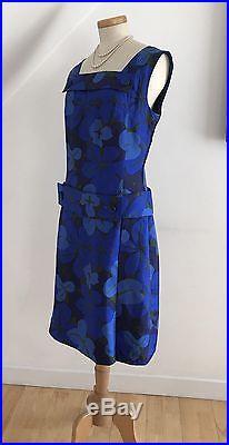 Vintage1960s Silk Sheath Dress Cocktail Slip Goodwood Unique 60s Vogue Designer