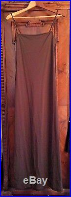 Vivienne Tam Vintage 1990s Beaded Gown with Slip, Rare, bronze/black S as-is