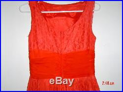 Vnt. SEMI-FORMAL DRESS, EX, 1961VINTAGE + CRINOLINE SLIP INCLUDED, GORGEOUS