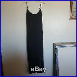 Vtg 90s Faviana Black Sequin Beaded Evening Dress Formal Prom Sz 10 12 Slip