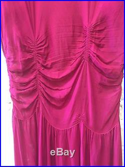 Vtg Antique 20s Pink Gown & Slip