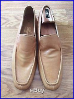 Vtg Bally Men Slip on Shoe Loafer Leather Casual Dress Switzerland Size 12 M Tan