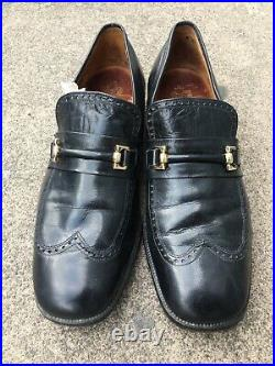 Vtg Crockett & Jones Gerrard Shoes Sz 6 (Black) Brogue Slip On