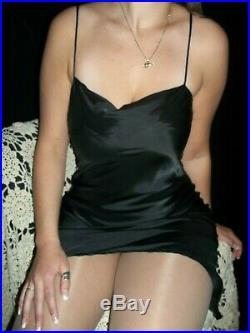 Vtg Dries Van Noten Satin Cowl Dress Slip Shiny Luxury Lingerie 10 Rayon Nos