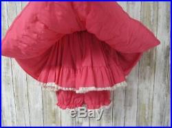 Vtg Girl's Pageant Party 3pc Dress 2T Tiered Ruffles Kathleen Scott Slip Bloomer