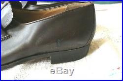 Vtg Gucci Brown Tassel Gold Hardware Slip On Wingtip Dress Shoes Size 42.5M