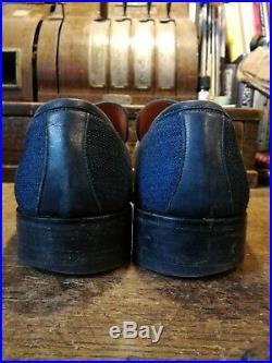 Vtg Gucci Denim Slip On Loafers UK12 EU46 RRP£495 Made in Italy Rare OG Box