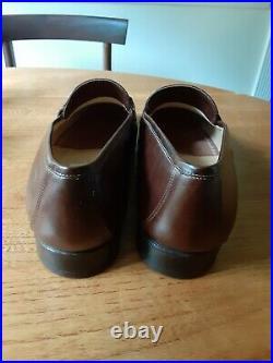 Vtg Gucci Men Brown Loafer Slip On Dress Shoe 10.5 Eu 43