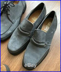 Vtg Hush Puppies Suede Leather Lace-Up Slip-On Mens Dress Shoes Size 8M (6 Pair)